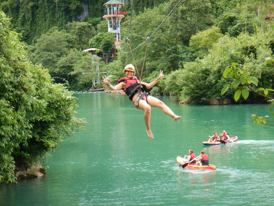 Tour Zipline Sông Chày Hang Tối Động Thiên Đường